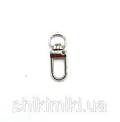 Карабин для сумок KR34-1 (10 мм), цвет никель