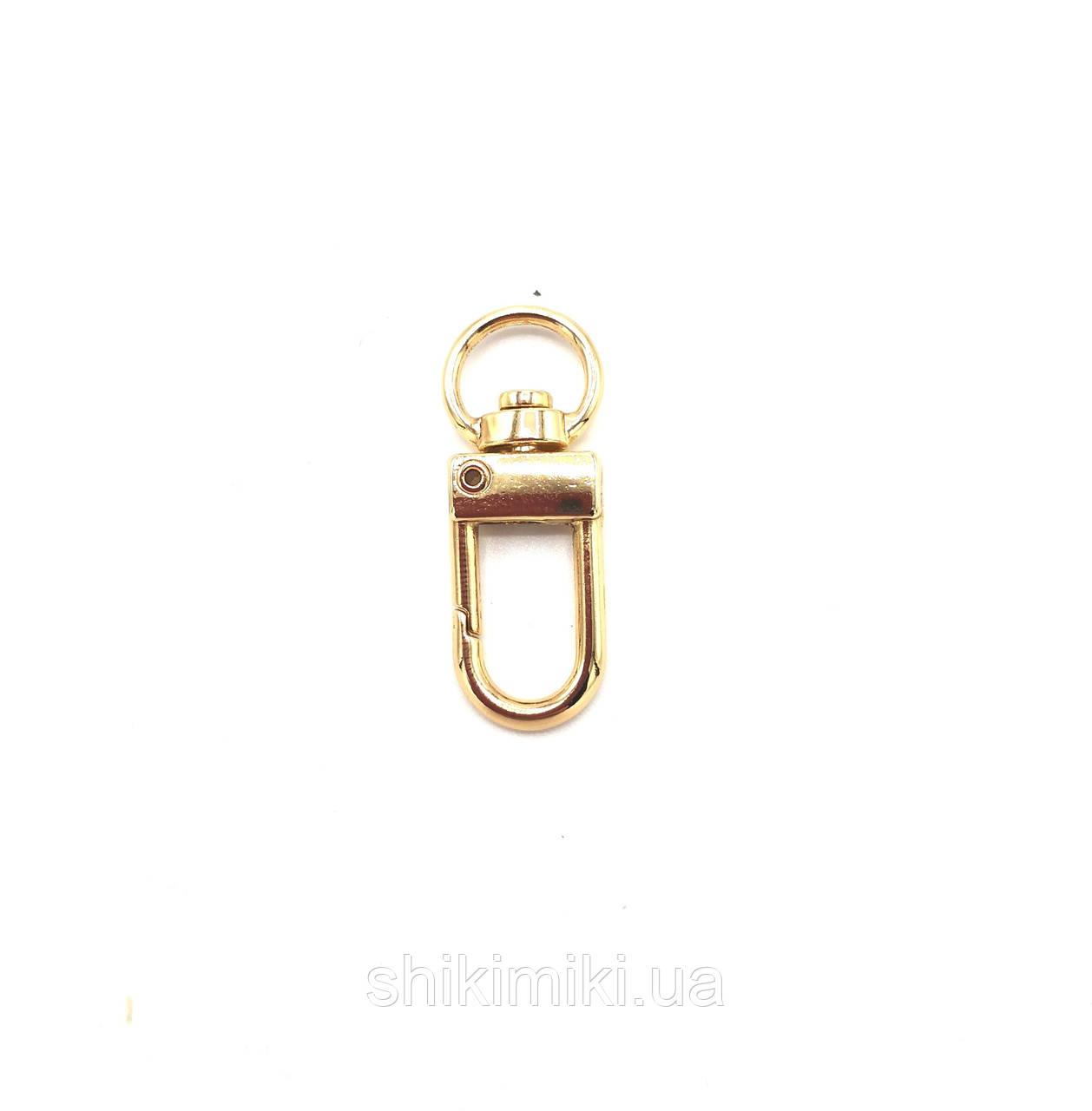 Карабин для сумок KR34-3 (10 мм), цвет золото