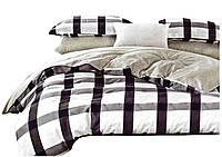 Комплект постельного белья Хлопковый Сатин Двухсторонний NR C1199 Oulaiya 1806 Белый, Коричневый