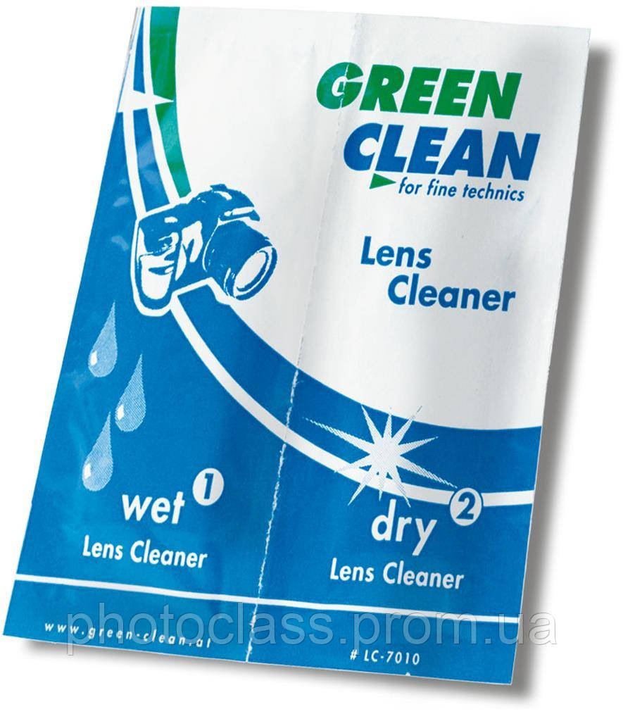 Салфетки Green Clean LC-7010-1 (влажная,сухая) для чистки оптики и техники