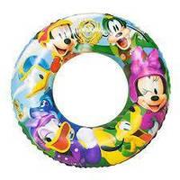 Детский надувной круг для плавания Bestway 91004 «Микки Маус», 56 см