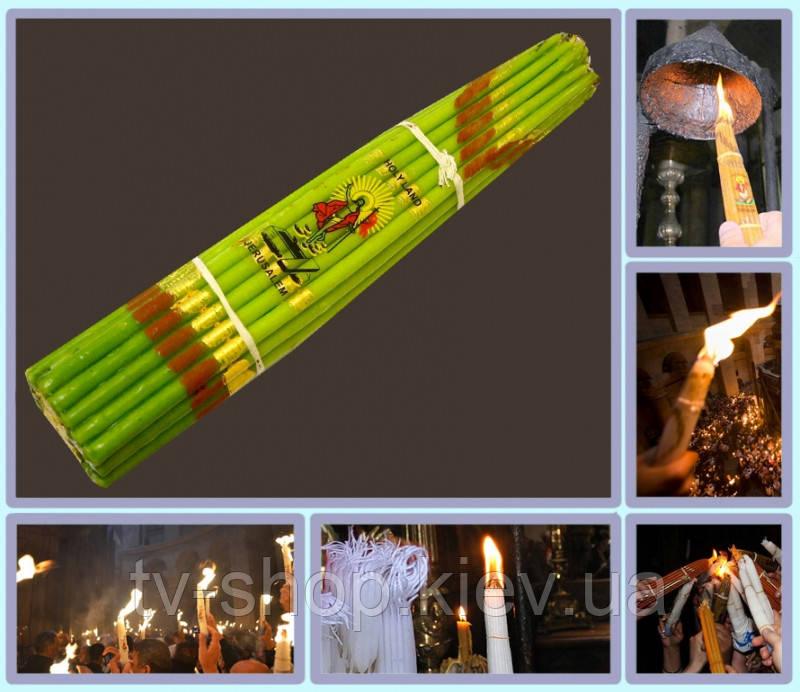Свечи Иерусалимские обожженные  ( 33шт ) зеленые