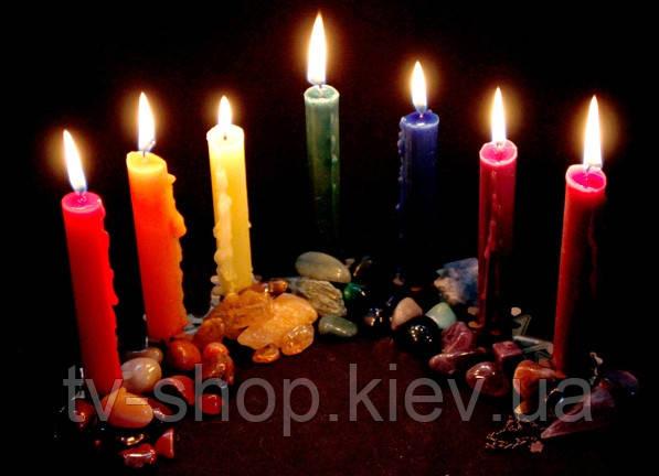 Свеча магическая с инструкцией,цвета
