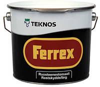 Антикоррозионная краска FERREX TEKNOS серая, 10л. Доставка НП бесплатно.