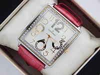 Кварцевые наручные часы Continent прямоугольной формы на кожаном ремешке. Серебристые со стразами., фото 1