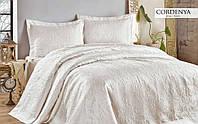Покрывало белое Gardenia white атлас Hanibaba