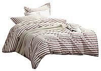 Комплект постельного белья Хлопковый Сатин Двухсторонний NR C1092 Oulaiya 8851 Бежевый
