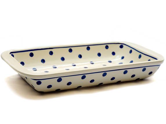 Керамическая прямоугольная форма для выпечки и запекания Кюветка 31 х 17 Горох, фото 2
