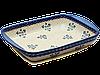 Прямоугольная форма для выпечки и запекания керамическая средняя 34 х 26 с ушками Blue Chintz