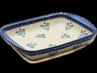 Прямоугольная форма для выпечки и запекания керамическая средняя 34 х 26 с ушками Blue Chintz, фото 1