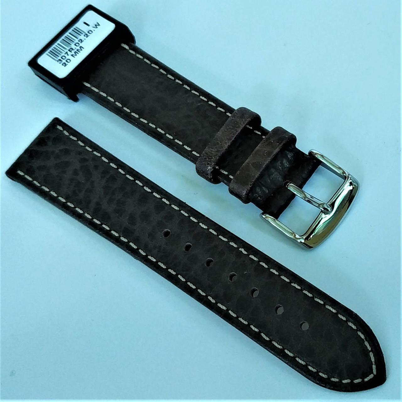 20 мм Кожаный Ремешок для часов CONDOR 307.20.02 Коричневый Ремешок на часы из Натуральной кожи