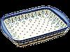 Прямоугольная форма для выпечки и запекания керамическая средняя 34 х 26 с ушками Forget-me-not