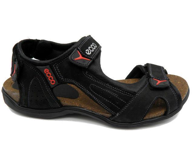 Босоножки Ecco E 2 черный с красным * 20870