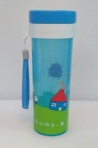 Бутылка пластиковая круглая для воды и напитков V 450 мл (шт), фото 2