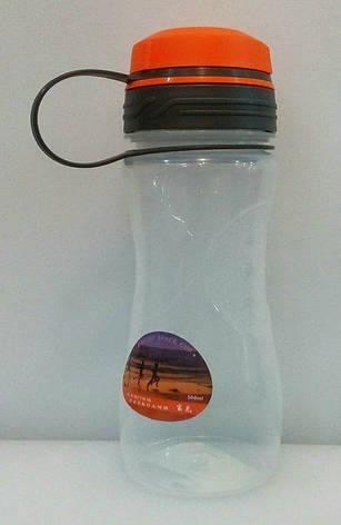 Бутылка пластиковая круглая для воды и напитков V 500 мл (шт), фото 2
