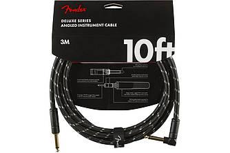 Кабель инструментальный FENDER CABLE DELUXE SERIES 10' ANGLED BLACK TWEED