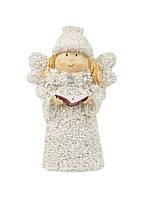 "Магнит на холодильник ""Ангел с книгой"" Coincasa 9х5,5см белый, айвори, марсала"