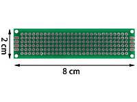 Макетная плата 2x8см двухстор.