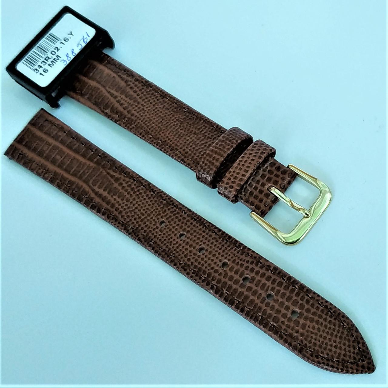 16 мм Кожаный Ремешок для часов CONDOR 343.16.02 Коричневый Ремешок на часы из Натуральной кожи