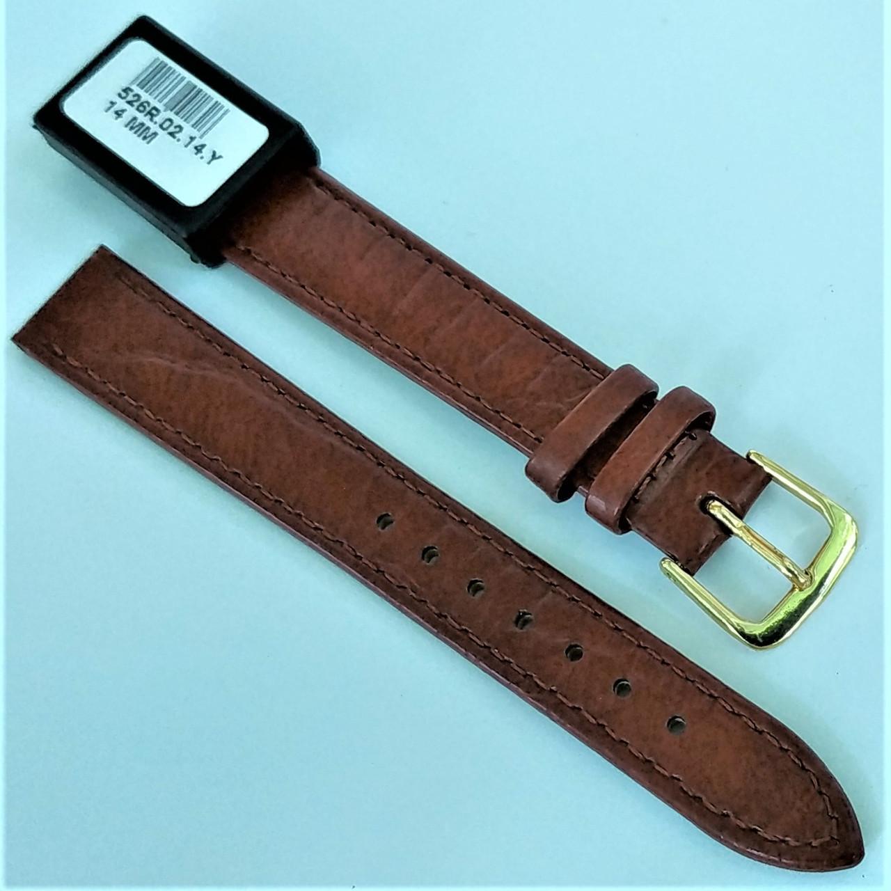 14 мм Кожаный Ремешок для часов CONDOR 526.14.02 Коричневый Ремешок на часы из Натуральной кожи