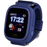 Смарт-часы детские с GPS Smart Watch Q90 синий, фото 1