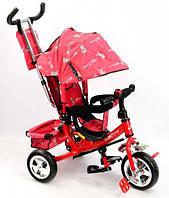 Велосипед трехколесный с ручкой для мамы детский Best Trike красный