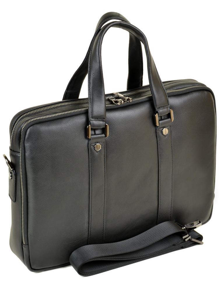 Портфель кожаный BRETTON BE 9318-2 black на 2 отделения