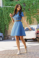 Платье джинсовое с расклешенной юбкой 5528, 42