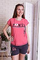 Женский летний комплект (футболка и шорты)  Nicoletta 90316, фото 1