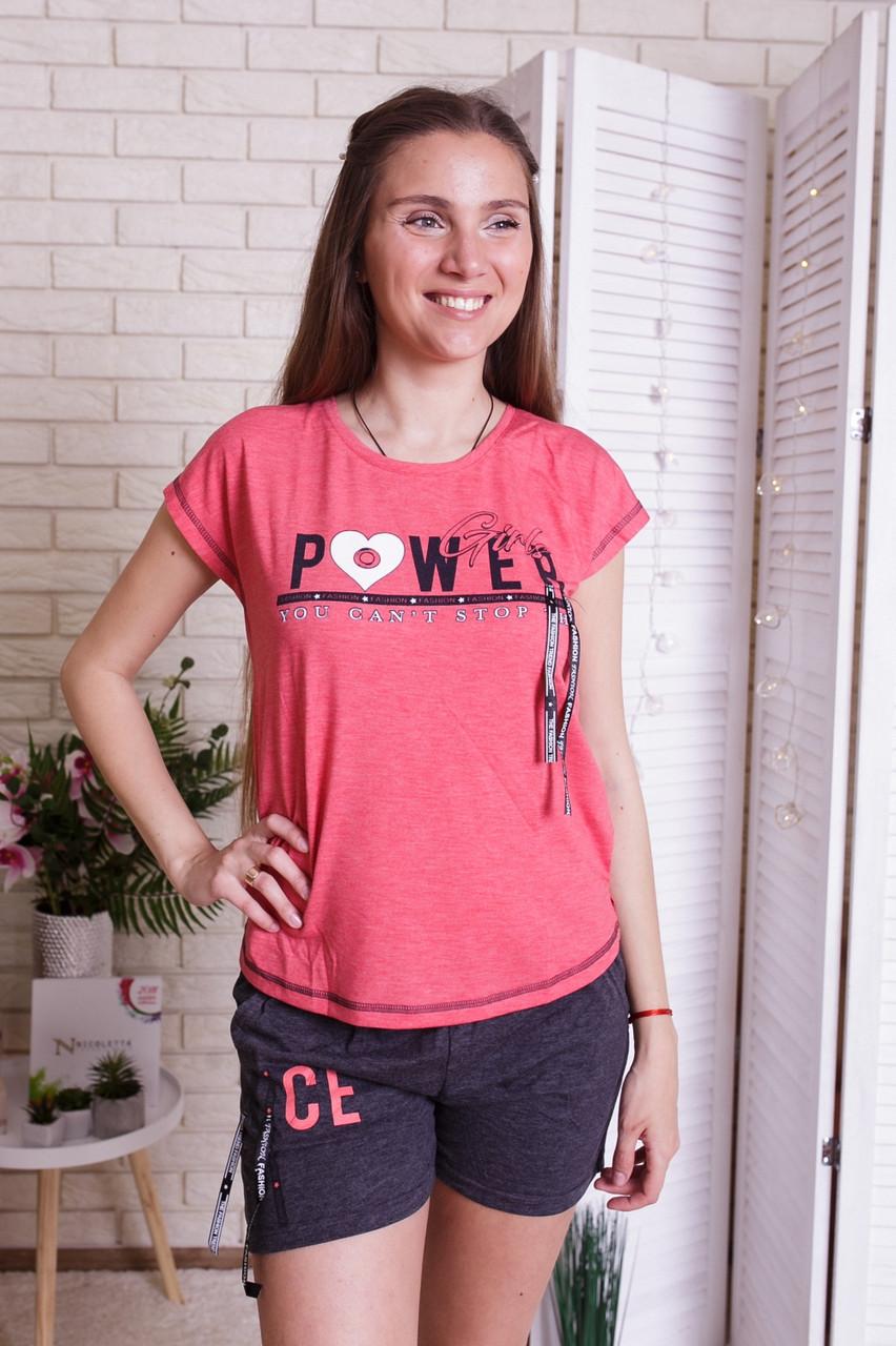 Женский летний комплект (футболка и шорты)  Nicoletta 90316