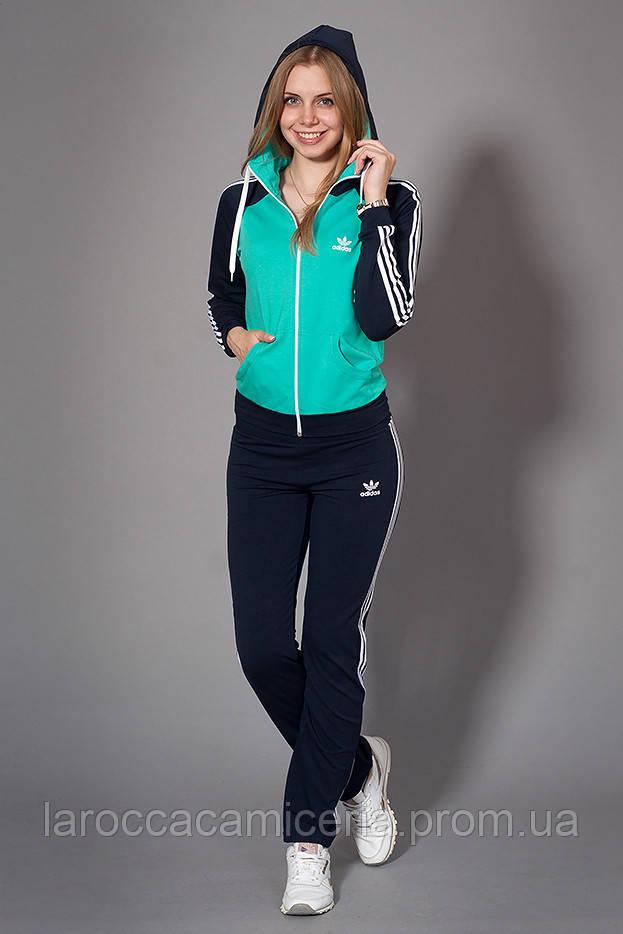 77ef5b00 Женский спортивный костюм. Код модели КС-12. Цвет темно синий с мятой.