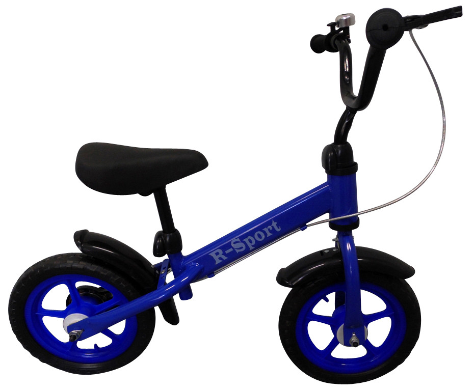 Беговел детский на 2 3 4 года R-Sport R9 колеса 12 пена тормоз синий