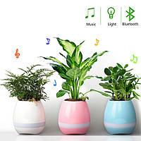 Музыкальная колонка цветочный горшок bluetooth SPS Music Pots Plant BT Blue
