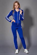 Женский молодежный спортивный костюм. Код модели КС-13. Цвет электрик с белым.