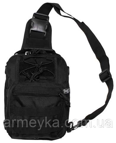 Наплечная сумка Molle, черная. MFH, Германия.