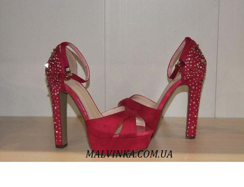 Босоніжки жіночі Princces shoes малинового кольору 37-40 арт 891-2
