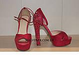 Босоніжки жіночі Princces shoes малинового кольору 37-40 арт 891-2, фото 2