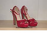 Босоніжки жіночі Princces shoes малинового кольору 37-40 арт 891-2, фото 5