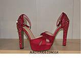 Босоніжки жіночі Princces shoes малинового кольору 37-40 арт 891-2, фото 4