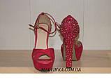 Босоніжки жіночі Princces shoes малинового кольору 37-40 арт 891-2, фото 3