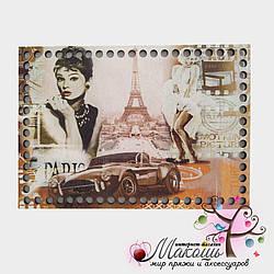 Прямоугольное донышко с рисунком, 25х17 см, Париж