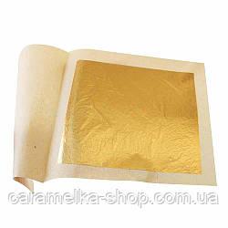 Сусальное золото, 8*8см, золото на торт, золотые листы, пищевое золото