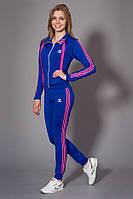 Женский молодежный спортивный костюм. Код модели КС-13. Цвет электрик с розовым.