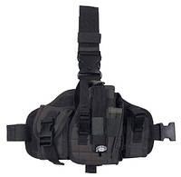 Пистолетная кабура  набедренная+платформа с доп. подсумками, олива