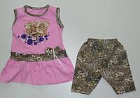 """Детская одежда оптом (Турция). Туника с бриджами """"Тигрята"""" 1,2,3 года 100 % хлопок"""