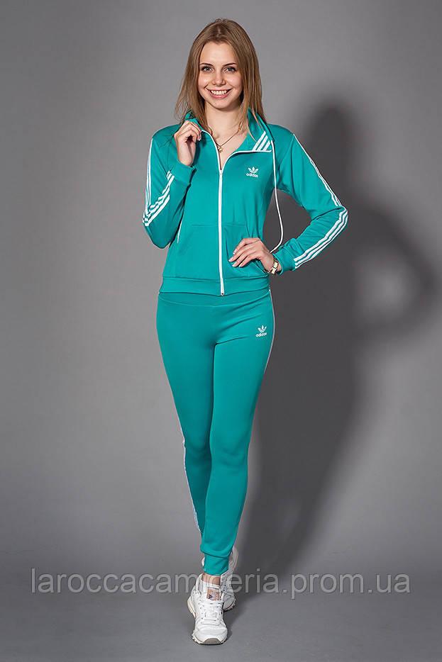 ad12037e Женский молодежный спортивный костюм. Код модели КС-13. Цвет бирюза с белым.