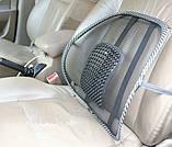 Упор массажный для спины, массажная накидка, Массажная накладка на кресло в офис и автомобиль, фото 2