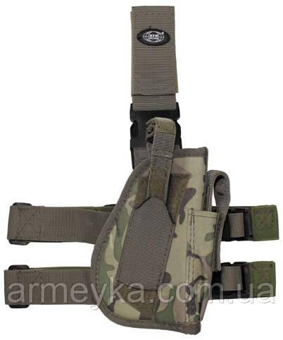 Пистолетная кабура  набедренная правосторонняя, мультикам, Германия MFH