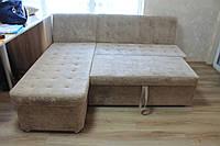 Угловой кухонный диван со спальным местом и ящиком  (Серый), фото 1