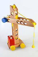 Деревянная игрушка Подъемный кран, Тато (КТ-011)
